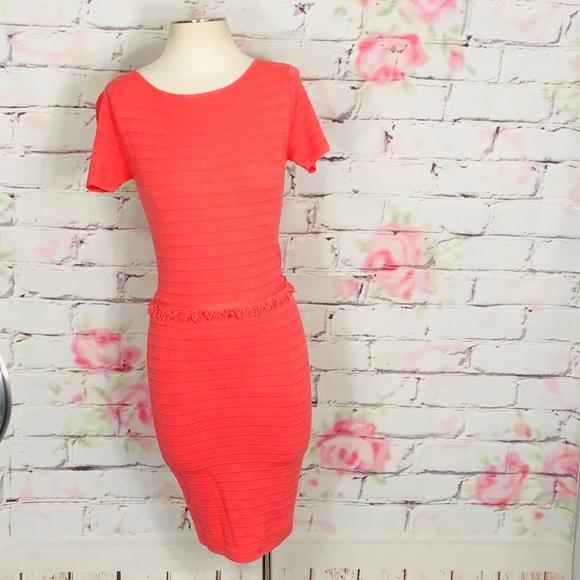 d9ca714320244 lavand. Dresses   525 Salelavand Short Sleeve Pink Knit Fringe ...